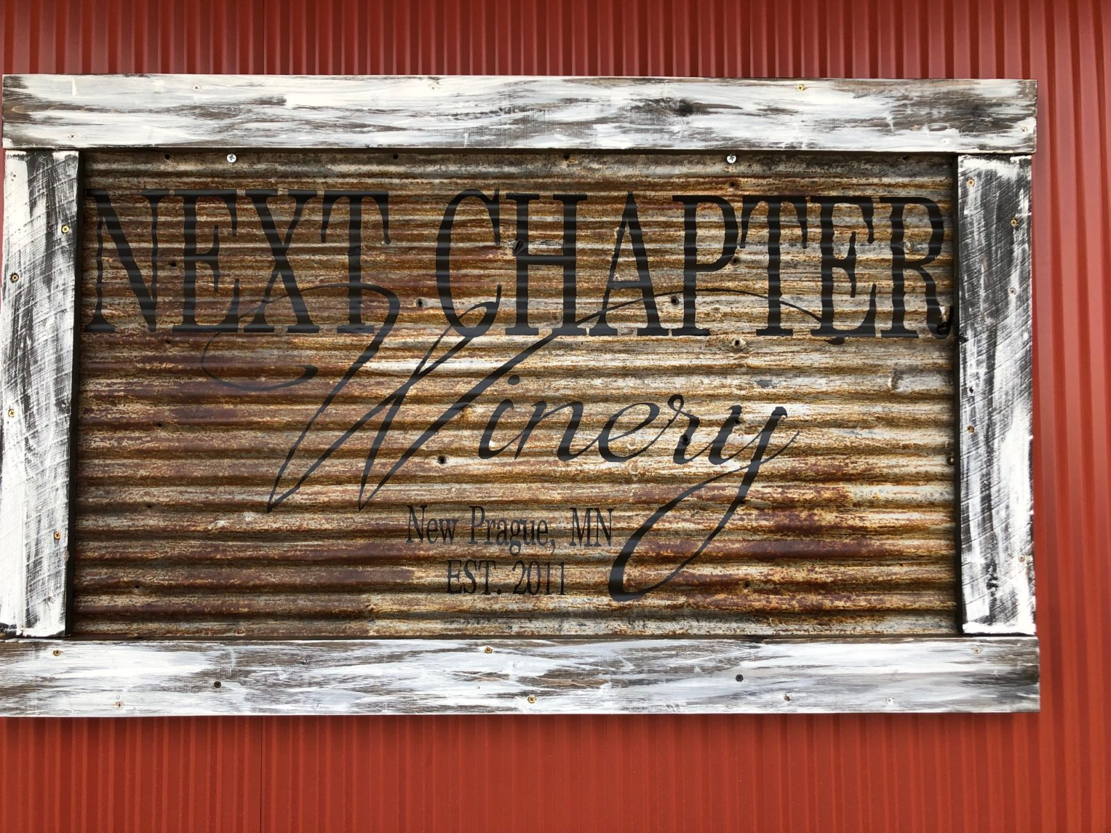 Next Chapter Winery Sign